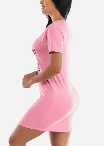 Short Sleeve Pink Sleep Shirt
