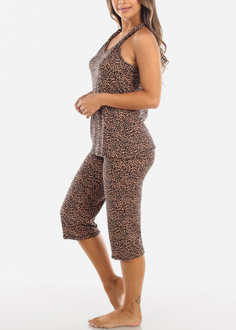 Image of Animal Print Top & Capris (2 PCE PJ SET)