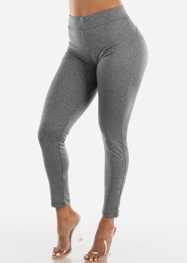 Activewear Butt Lifting Grey Leggings