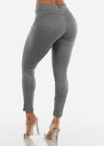Image of Activewear Butt Lifting Grey Leggings