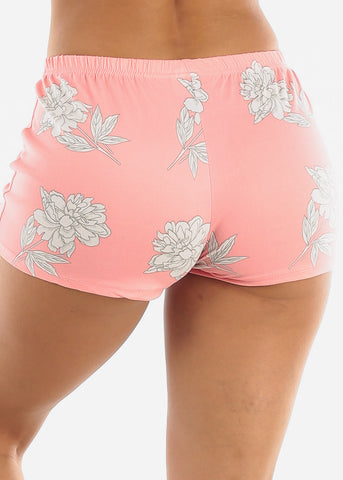 Image of Pink Floral Shorts PJ Set