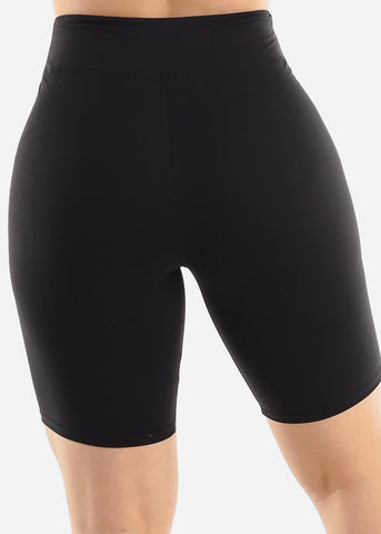 Image of Solid Black Biker Shorts