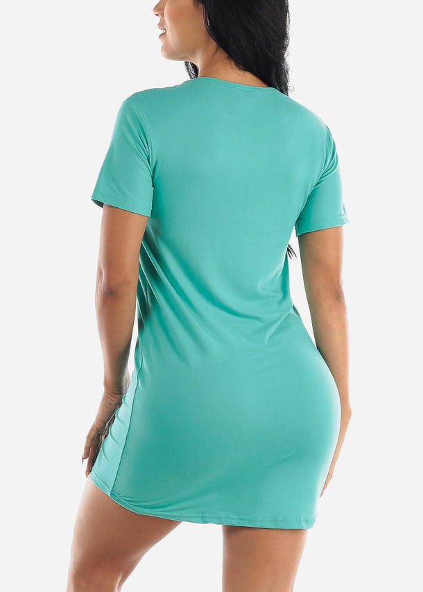 Short Sleeve Teal Sleep Shirt