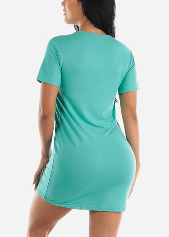 Image of Short Sleeve Teal Sleep Shirt