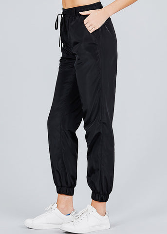 Windbreaker Black Jogger Pants