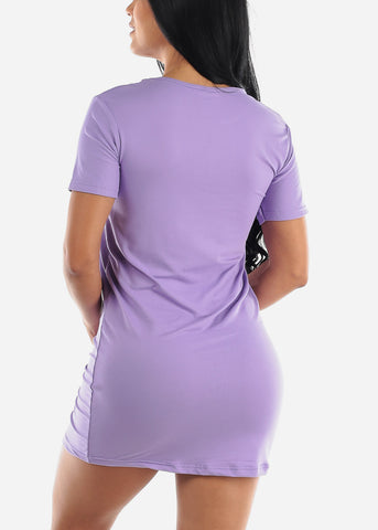 Short Sleeve Purple Sleep Shirt