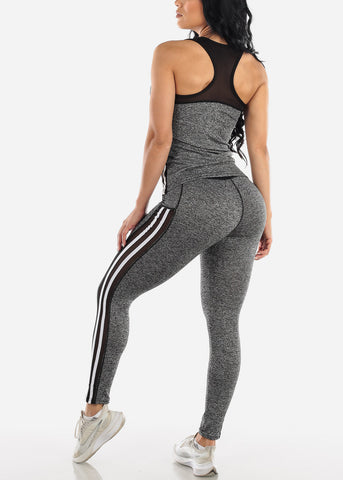 Activewear Black Top & Pants (2 PCE SET)