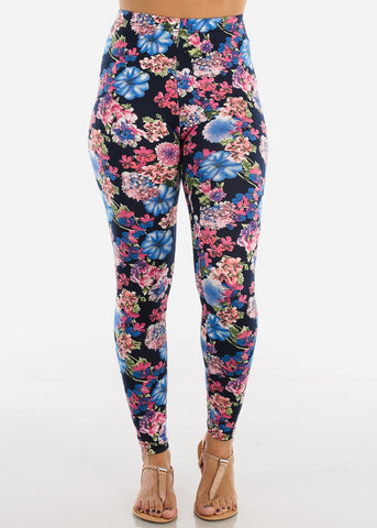 Image of Colorful Floral Print Leggings