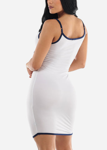 Image of White Cami Slip Mini Dress