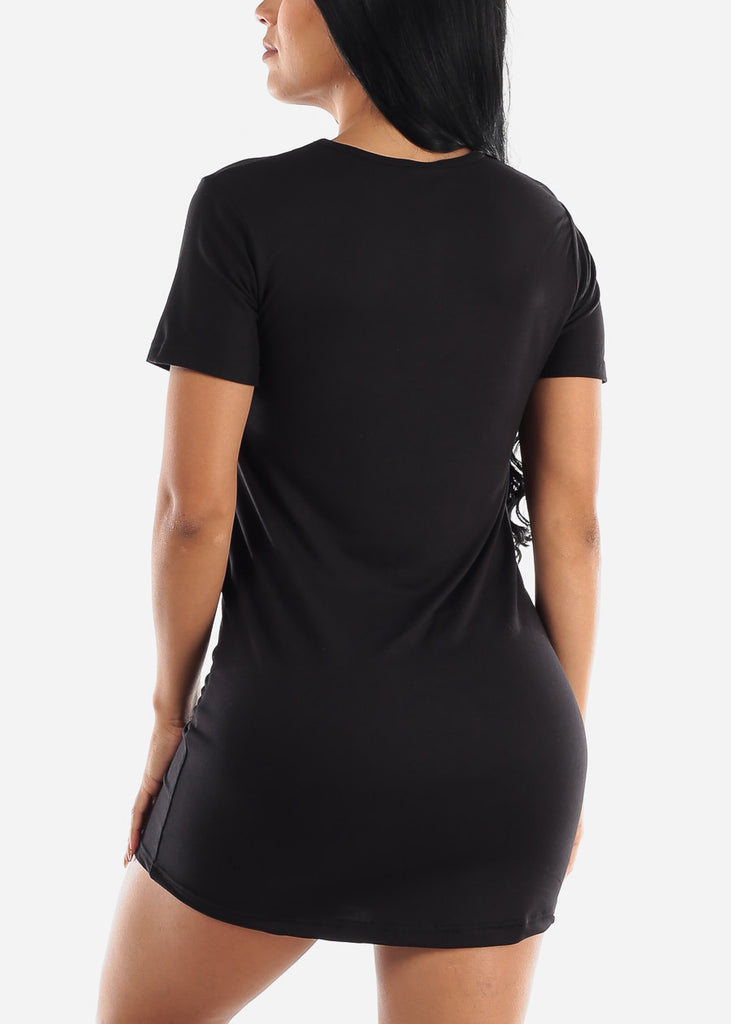 Short Sleeve Black Sleep Shirt