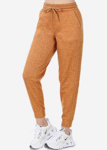 Image of Fleece Heather Almond Jogger Sweatpants