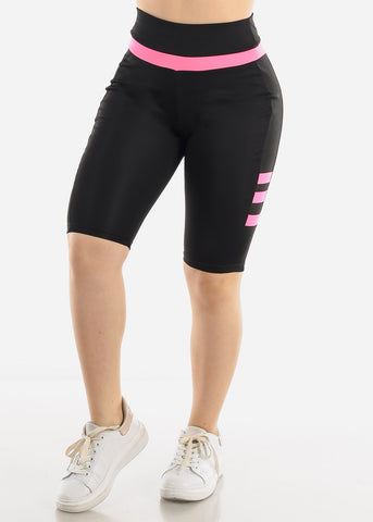 Image of Black & Pink Biker Shorts