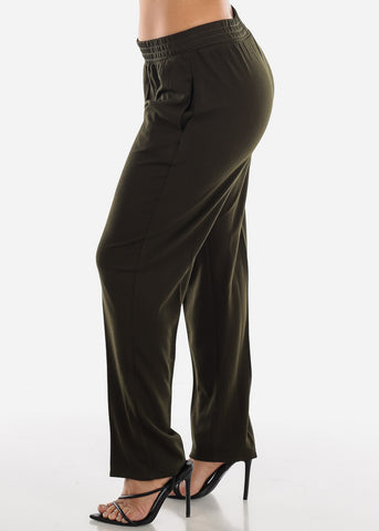 Image of Olive Straight Leg Pants