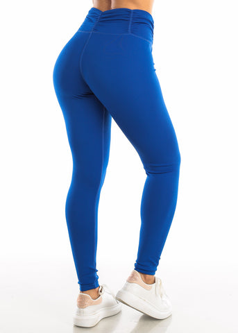 Activewear High Rise Royal Blue Leggings