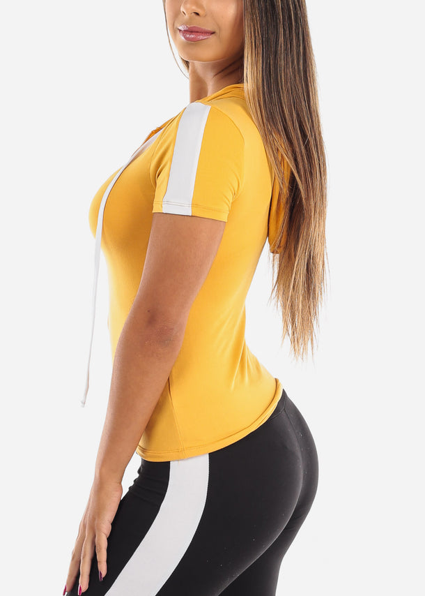 Sporty Yellow Crop Top