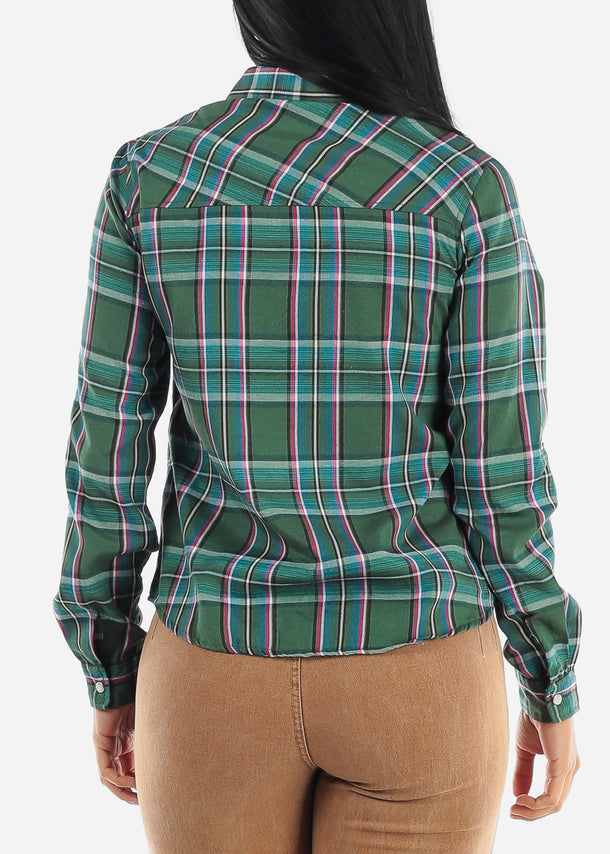 Snap Up Green Plaid Shirt
