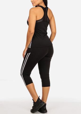 Activewear Top And High Rise Leggings (2PCE SET)