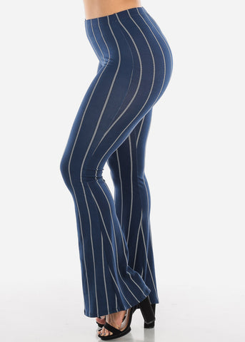 Striped Navy Bell Bottom Pants