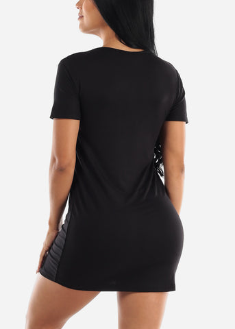 "Black Sleep Dress ""Nap Team Captain"""