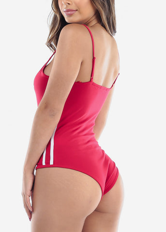 """Honey"" Red Bodysuit"