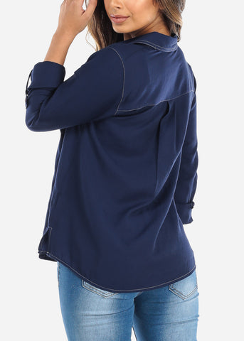 Image of Blue Button Down Shirt