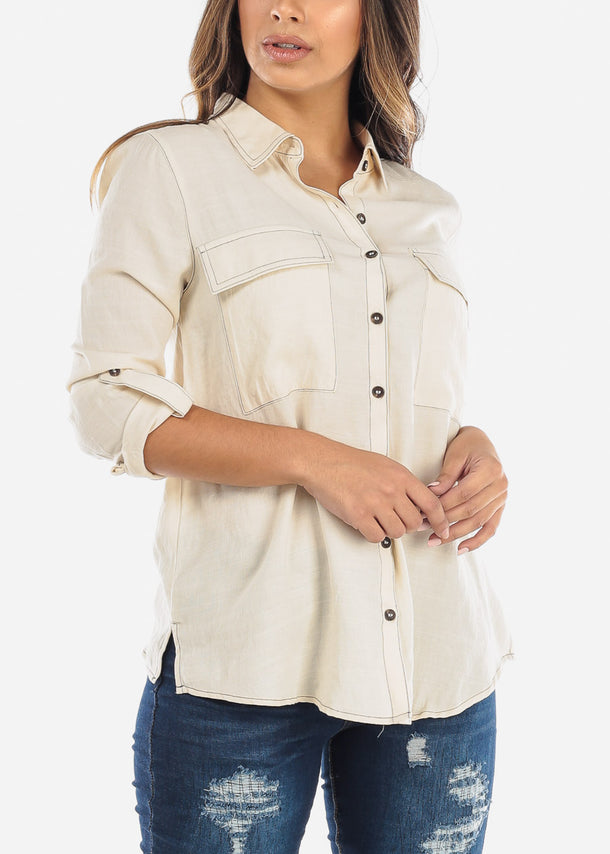 Ivory Button Down Shirt