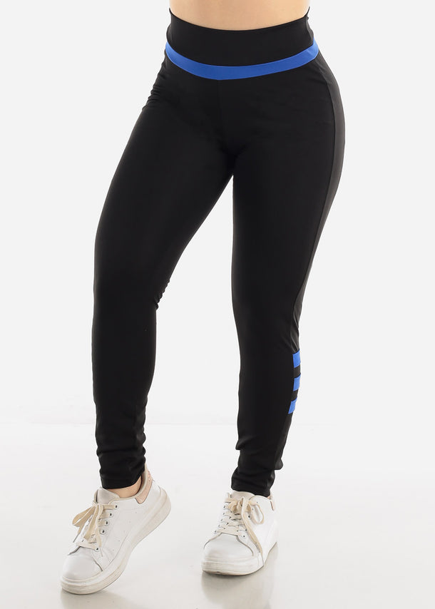 Black & Blue Activewear Leggings