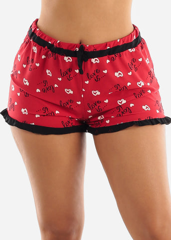 Image of Printed Black Top & Shorts (2 PCE PJ SET)