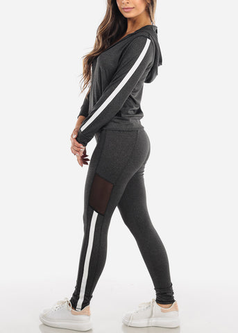 Image of Mesh Sides Jacket & Leggings (2 PCE SET)