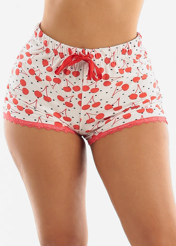 White Cherry Top & Shorts (2 PCE PJ SET)