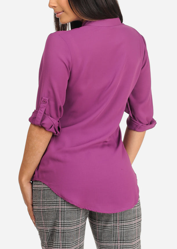 Dressy Purple Blouse