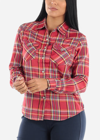 Snap Up Red Plaid Shirt