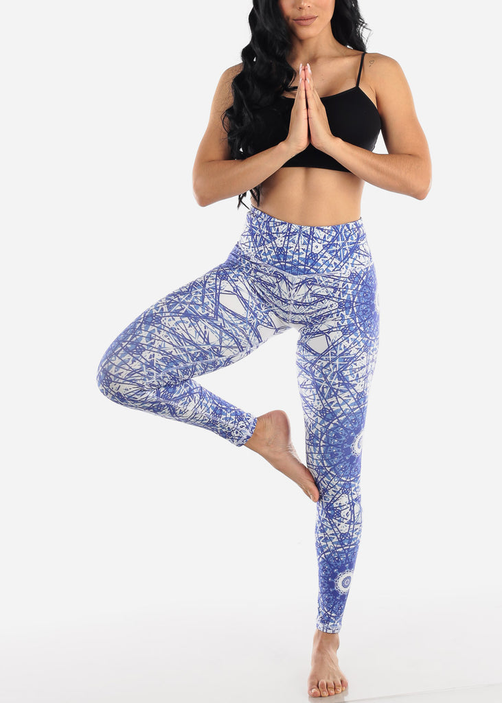 Activewear Purple Printed Leggings
