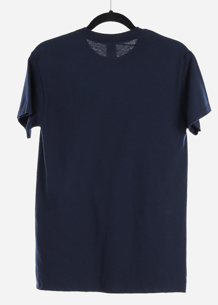 "Navy Graphic T-Shirt ""Pisces"""