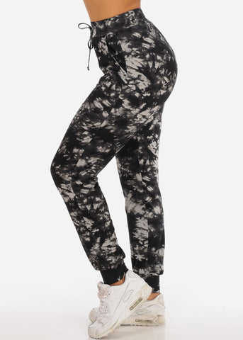 Image of Black Tie Dye Jogger Pants