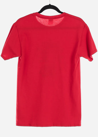 "Red Graphic T-Shirt ""Leo"""