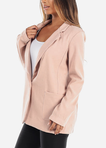 Image of Trendy Pink Oversized Blazer