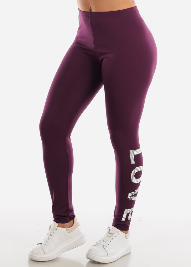 Activewear Purple Leggings