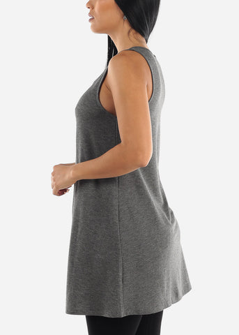 Tunic Crisscross Sleeveless Top