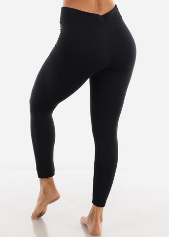 Image of Full Length High Waist Black Leggings