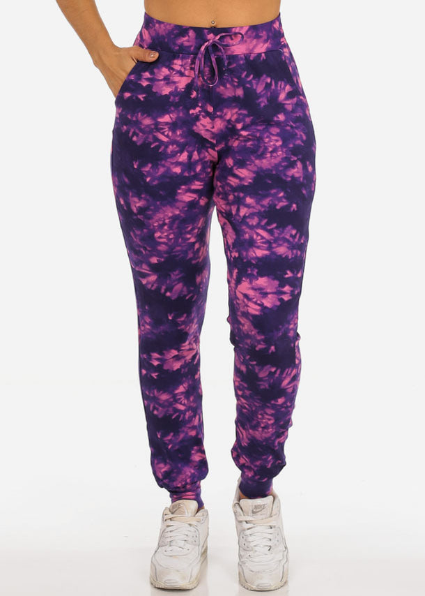 Purple Tie Dye Jogger Pants