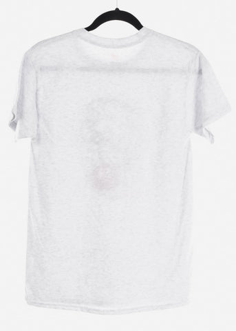 "Image of Ash Grey Graphic T-Shirt ""Aquarius"""