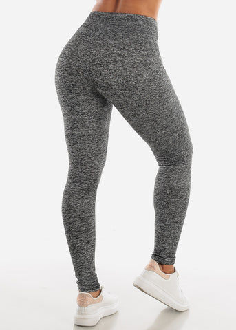 "Activewear Heather Grey Leggings ""Love"""