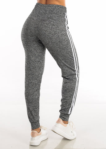Image of Drawstring Heather Charcoal Jogger Pants