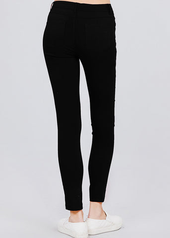 Image of Black High Waisted Skinny Pants