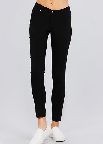 Black High Waisted Skinny Pants