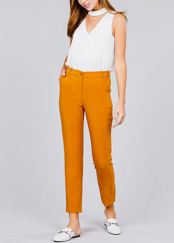 Image of Classic Mustard Dress Pants