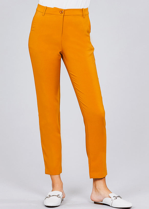 Classic Mustard Dress Pants