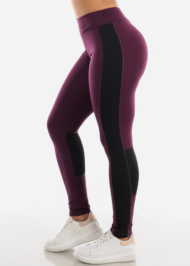 Activewear Purple & Black Leggings