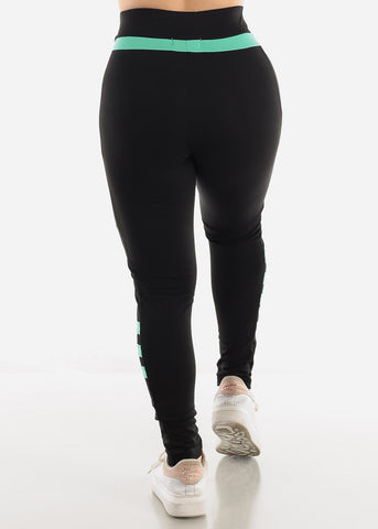 Black & Mint Activewear Leggings